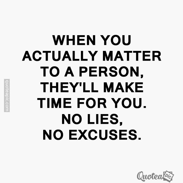When you matter
