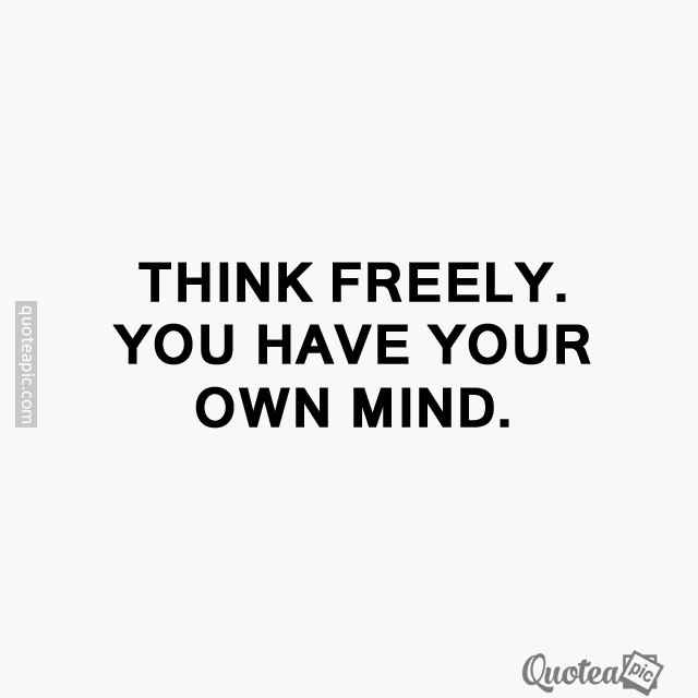 Own mind