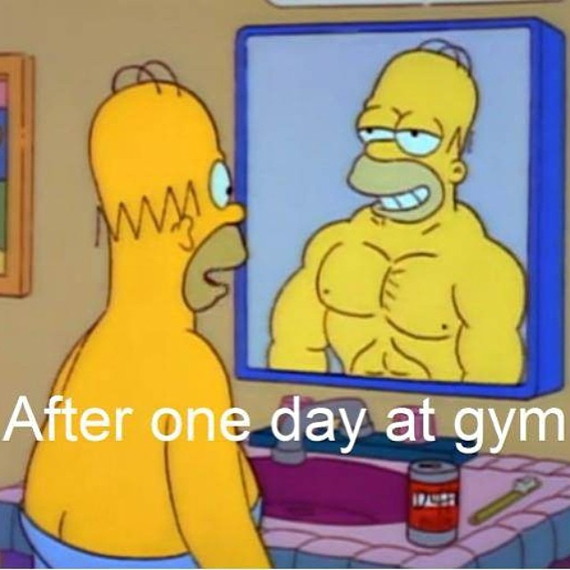 How I feel after a day at the gym