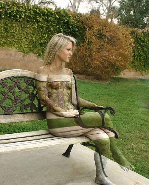 Brilliant body painting