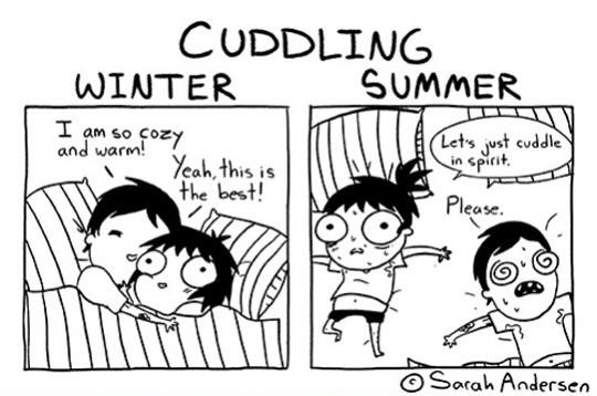 Cuddling In Winter Vs Cuddling In Summer