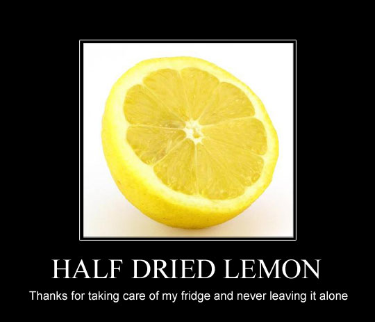 Half dried lemon