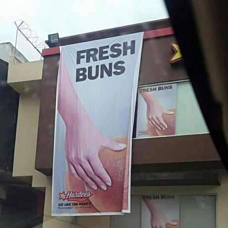 Crazy Hardee's ad in Pakistan