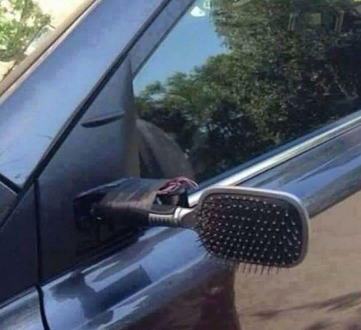 I fixed my car mirror