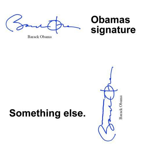 Obama's Signature