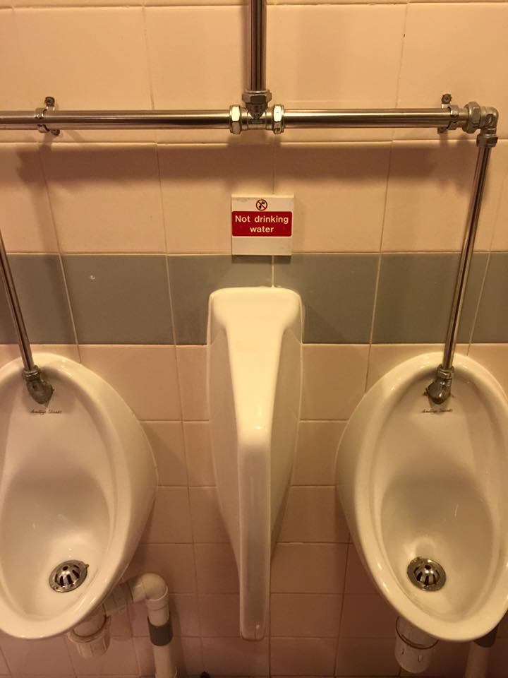 The fact they needed to put up a sign
