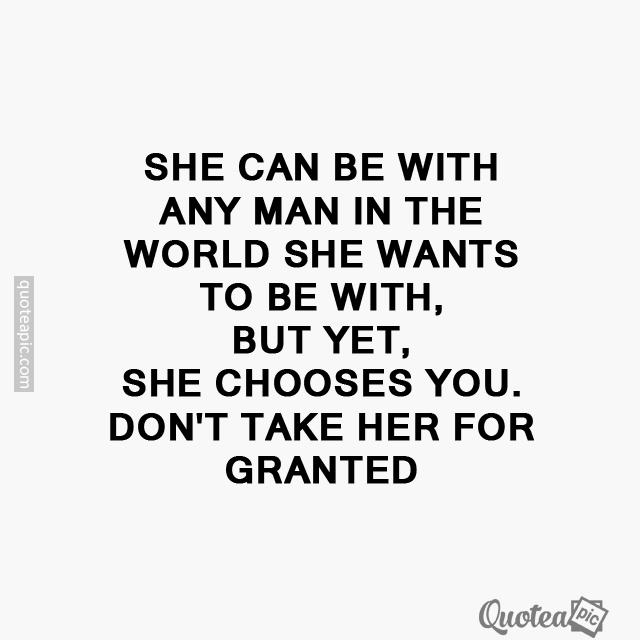 She chooses you