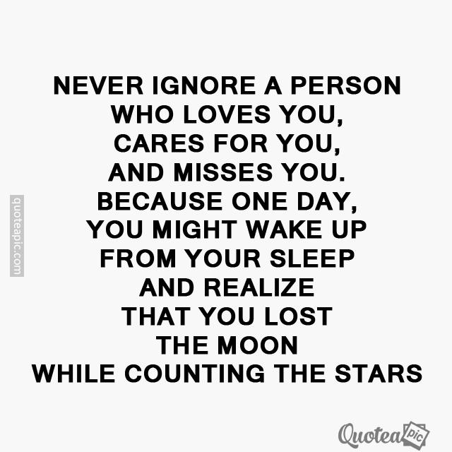 Never ignore