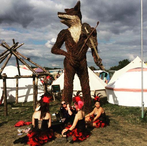 Huge Wicker Sculptures