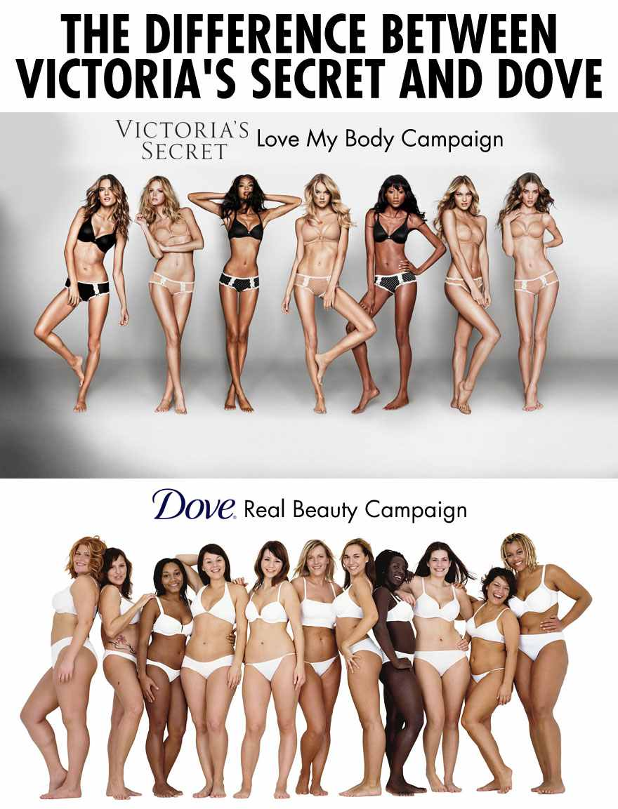 The Difference Between Victoria's Secret And Dove