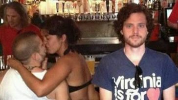This Poor Guy Takes Pictures Of Himself Next To A Couple Making Out In Public It's Triumphant