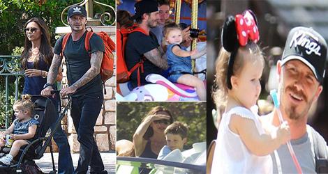 David Beckham Goes To Disneyland