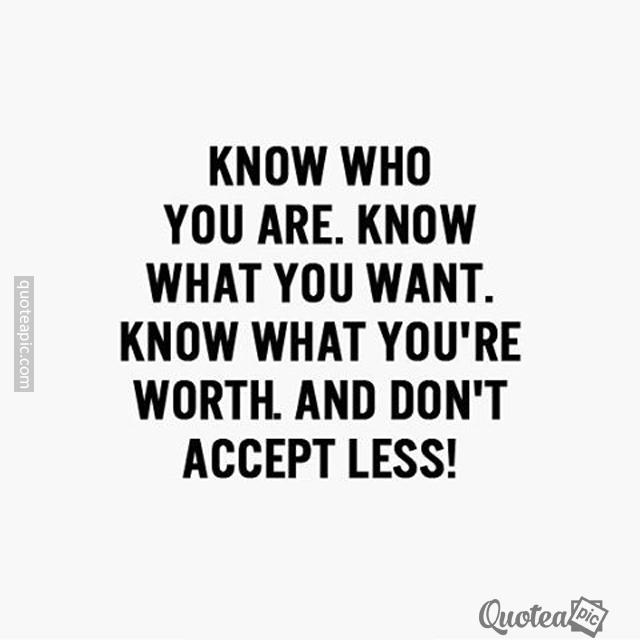 Don't Accept Less