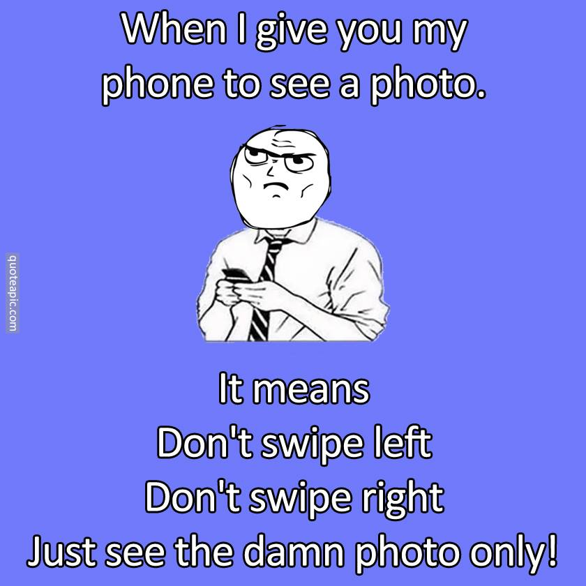 Dont Swipe !