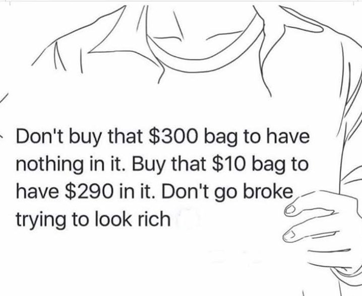 Don't Try To Look Rich