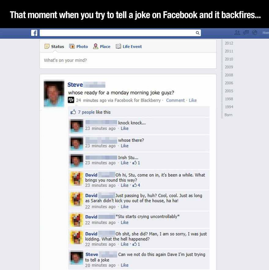 Knock Knock Joke Goes a Little Too Far