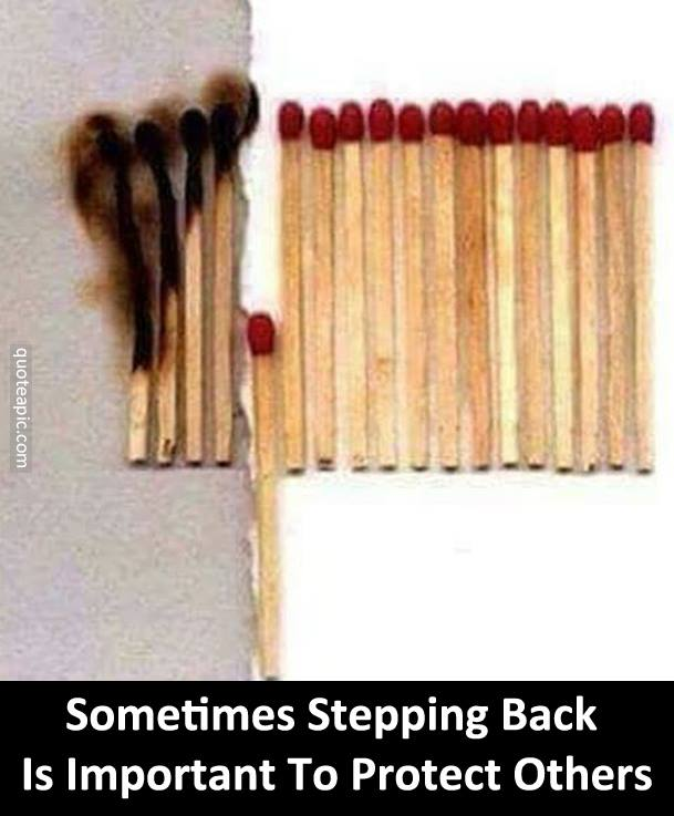 It's Important Sometimes To Step Back