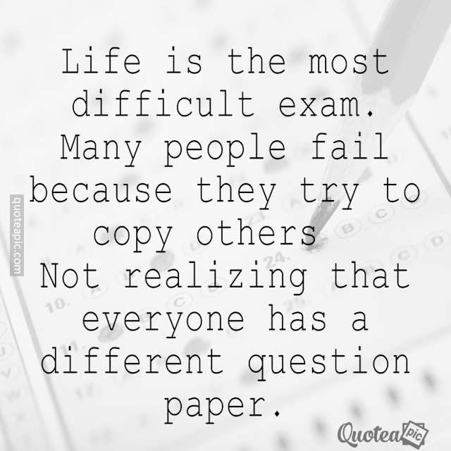 It's The Most Difficult Exam