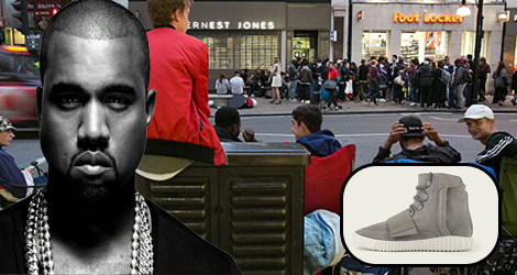 UK Fans Can Finally Get Their Hands On A Pair Of Kanye West's Adidas Yeezy Boost Trainers After Queuing Since Thursday