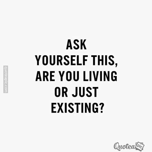 Living Or Just Existing