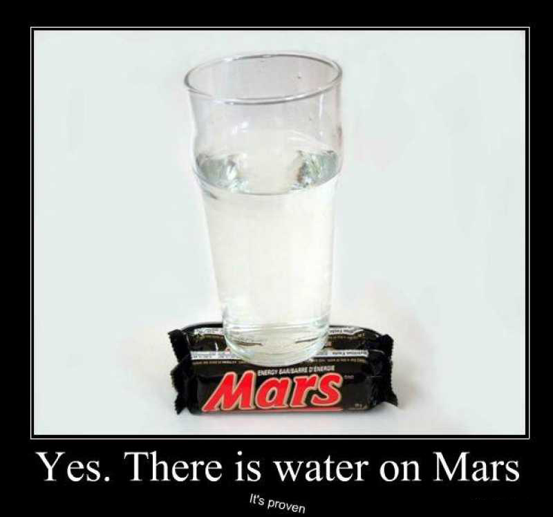 There Is Water On Mars