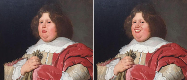 Guy Finds Classical Art Characters While At The Museum Too Serious, Uses FaceApp To Make Them Smile