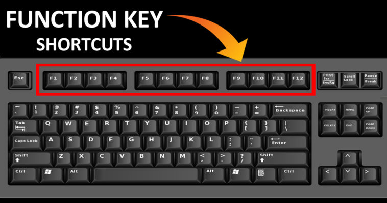 F1 to F12 Function Key Shortcuts Everyone Should Know To Save Time